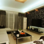 Living Room modern - Idei de decorare cu tapet