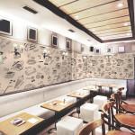 Restaurant decorat cu tapet printabil