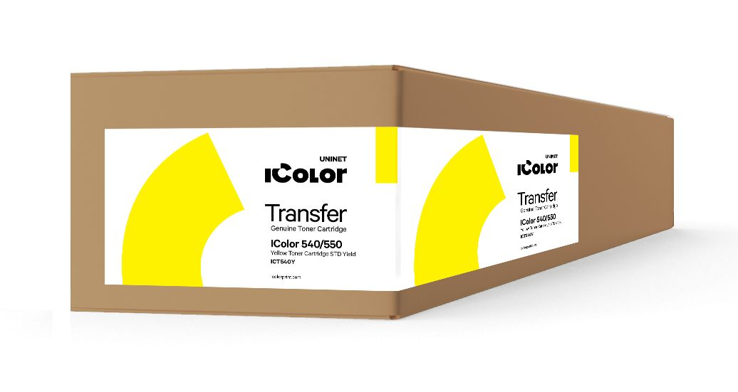 ICT540Y iColor 540/550 Yellow toner cartridge STD Yield (3,000 pages)
