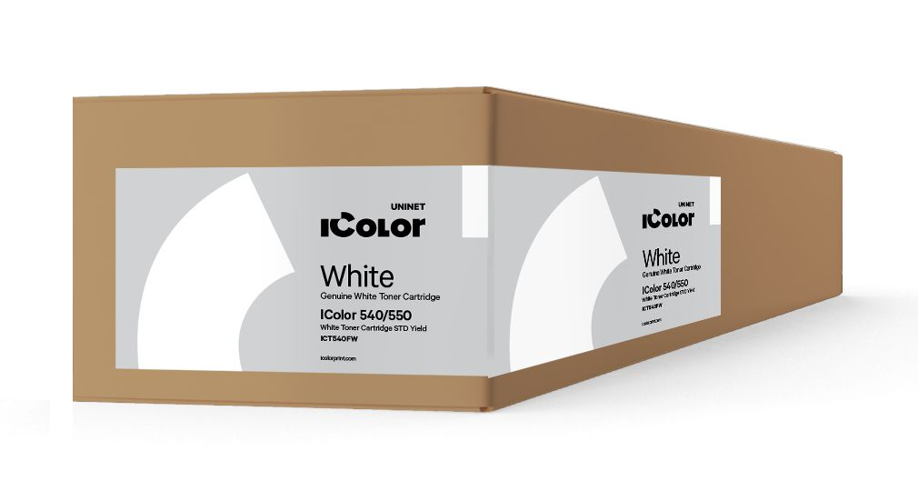 ICT540FW iColor 540/550 Fluorescent White toner cartridge STD Yield (3,000 pages)