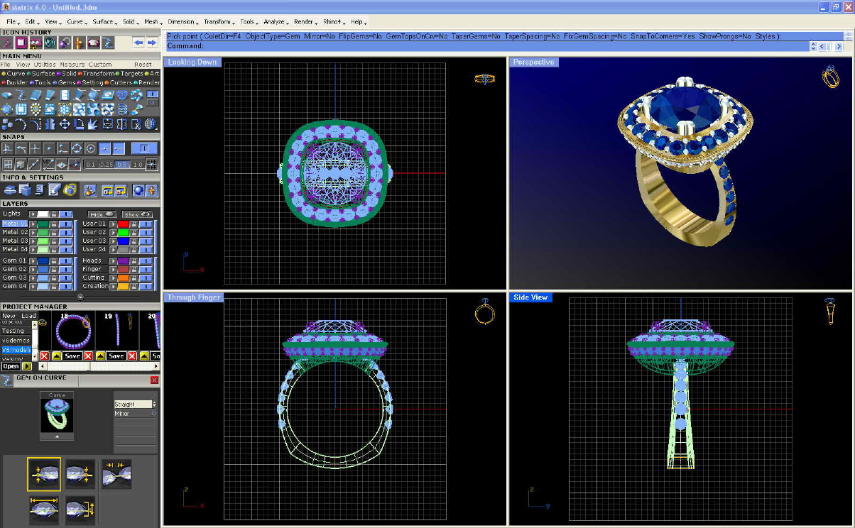 Matrix software 3d cad pentru bijuterii for Software cad 3d