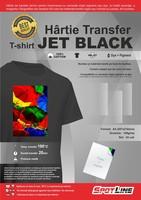 Hartie transfer termic JET-BLACK, textile negre, A4